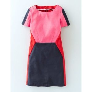 Boden Shift Dress Pippa Colorblock with Pockets!
